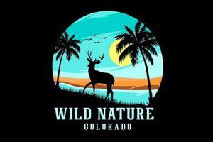desenho da silhueta do Colorado da natureza selvagem vetor