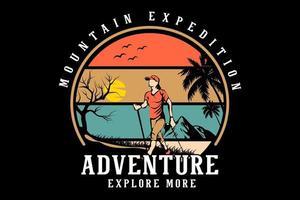 aventura explorar mais merchandising design vetor
