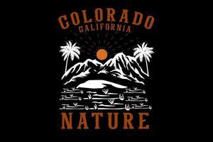 desenho de ilustrações desenhadas à mão da natureza do colorado califórnia vetor