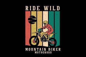 design de ilustração de mercadoria de mountain bike vetor