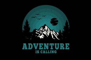 aventura está chamando design de silhueta vetor