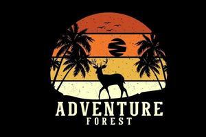 aventura floresta design de silhueta vetor