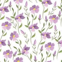 padrão sem emenda de vetor floral bonito. flores delicadas do prado