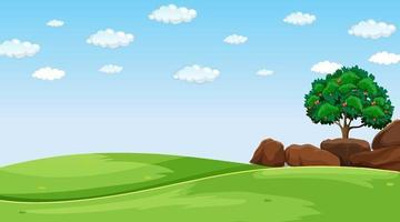 paisagem de campo em branco durante o dia vetor