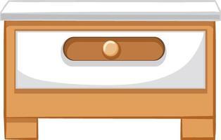 um armário de gaveta para design de interiores vetor