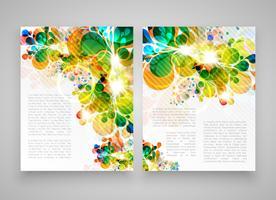 Modelos realistas coloridos para publicidade ou apresentação, ilustração vetorial