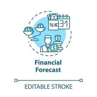 ícone do conceito de previsão financeira vetor