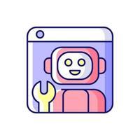 plataforma robótica ícone de cor rgb vetor