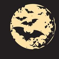 vôo de morcego vetor