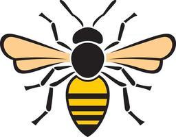 cor do ícone de abelha vetor