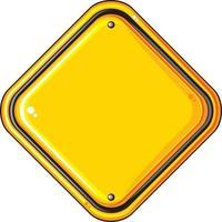 sinal amarelo em branco vetor