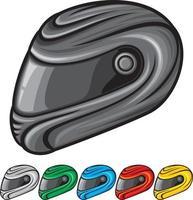 coleção de capacete de motociclistas vetor