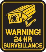 sinal de alerta de câmera vetor