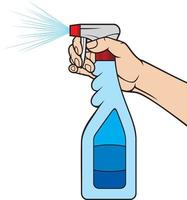 frasco de spray de limpeza vetor