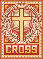 pôster da cruz cristã vetor