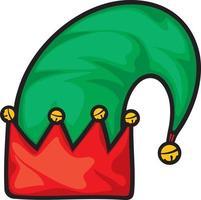 chapéu de duende de natal vetor