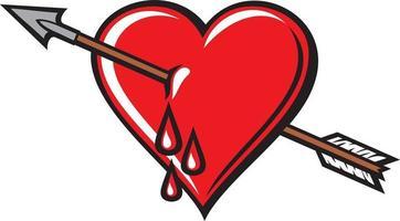 coração com flecha vetor