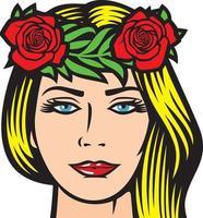 rosas de louro vetor