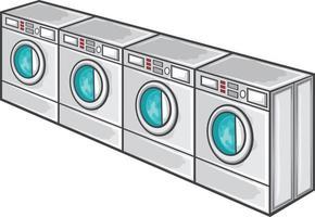 linha de máquina de lavar vetor