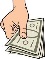 dinheiro na mão vetor