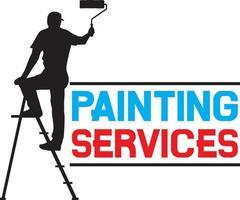 homem pintando a parede vetor