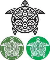 tartarugas tatuagem tribal vetor