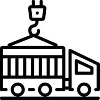 ícone de linha para o recipiente vetor