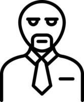 ícone de linha para cliente vetor