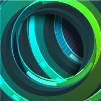 Círculo verde colorido abstrato, ilustração vetorial vetor