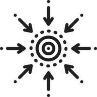 ícone de linha para centralidade vetor