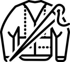 ícone de linha para sob medida vetor