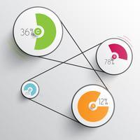Infografia abstrata de negócios para publicidade