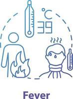 ícone do conceito de febre vetor