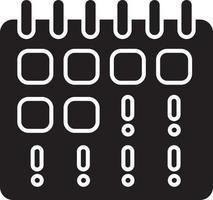 ícone de glifo preto ponto final perdido vetor