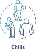 ícone do conceito de arrepios vetor