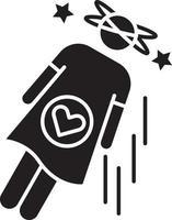 ícone de glifo preto desmaiado vetor