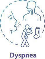 ícone do conceito de dispneia vetor