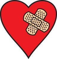 bandagem cor do coração vetor