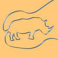 Fita realista molda um animal, ilustração vetorial