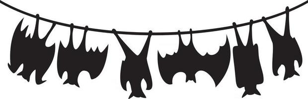 morcegos pendurados design vetor