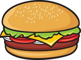 cor do ícone de hambúrguer vetor