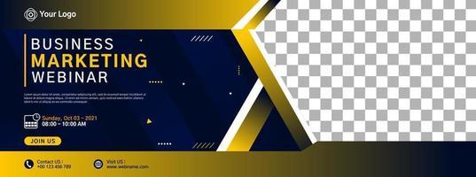 design do modelo do banner do site vetor