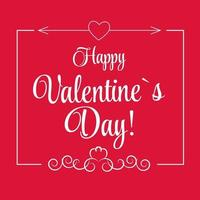 vetor cartão do dia de São Valentim em design de estilo retro