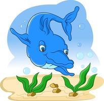 golfinho nadando no mar vetor