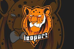 modelo de logotipo da equipe de e-sports leopardo vetor