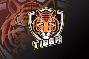 logotipo do tiger head e sport vetor