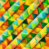 Triângulos coloridos abstratos, vetor