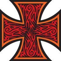 cruz de ferro em estilo tribal de tatuagem vetor