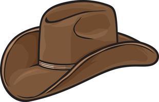 chapéu de cowboy marrom vetor