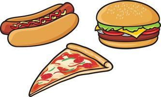 coleta de fast food vetor